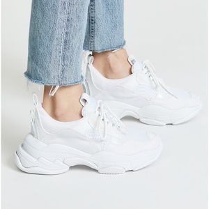 Jeffrey Campbell Lo-Fi Dad Chunky White Sneakers
